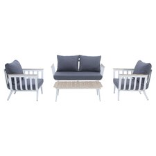 Vera 4 Piece Deep Seating Group with Cushion