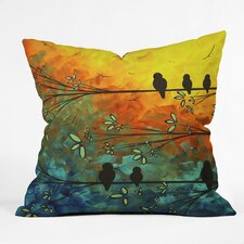Madart Inc Birds of A Feather Indoor/Outdoor Throw Pillow