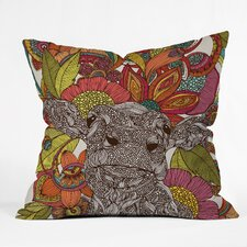 Valentina Ramos Arabella and the Flowers Indoor/Outdoor Throw Pillow