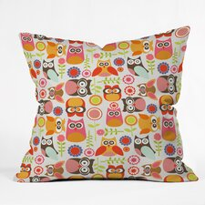 Valentina Ramos Cute Little Owls Indoor/Outdoor Throw Pillow
