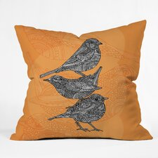 Valentina Ramos 3 Little Birds Indoor/Outdoor Throw Pillow