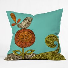 Valentina Ramos Bird in The Flower Indoor/Outdoor Throw Pillow