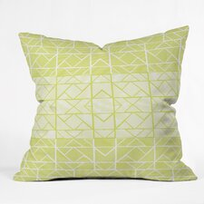 Gneural Shifting Pyramids Lemon Indoor/Outdoor Throw Pillow