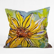 Ginette Fine Art Sunflower Ribbon Indoor/Outdoor Throw Pillow