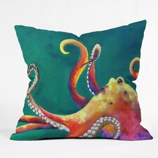 Clara Nilles Mardi Gras Octopus Indoor/Outdoor Throw Pillow