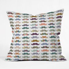 Bianca Mustache Mania Indoor/Outdoor Throw Pillow