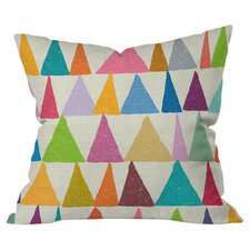 Nick Nelson Analogous Shapes In Bloom Indoor/Outdoor Throw Pillow