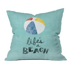 Nick Nelson Lifes A Beach Indoor/Outdoor Throw Pillow