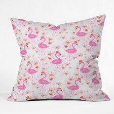 Dash and Ash Jolly Flamingo Indoor/Outdoor Throw Pillow