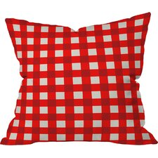 Holli Zollinger Red Gingham Indoor/Outdoor Throw Pillow
