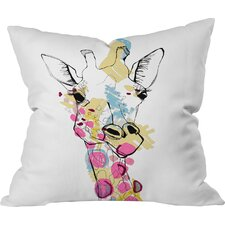 Today Only Sale Casey Rogers Giraffe Color Indoor/Outdoor Throw Pillow