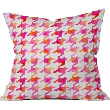 Betsy Olmsted Watercolor Houndstooth Indoor/Outdoor Throw Pillow