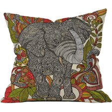 Valentina Ramos Bo The Elephant Indoor/Outdoor Throw Pillow
