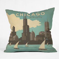 Anderson Design Group Chicago Indoor/Outdoor Throw Pillow