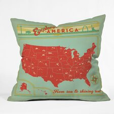 Anderson Design Group Explore America Indoor/Outdoor Throw Pillow