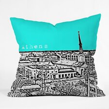 Savings Bird Ave Athens Indoor/Outdoor Throw Pillow