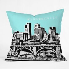 Bird Ave Minneapolis Indoor/Outdoor Throw Pillow