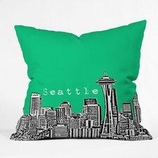 Bird Ave Seattle Indoor/Outdoor Throw Pillow