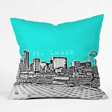 Bird Ave St Louis Indoor/Outdoor Throw Pillow