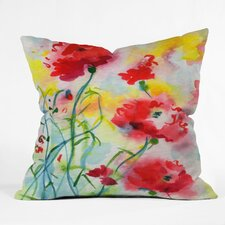 Ginette Fine Art If Poppies Could Only Speak Indoor/Outdoor Throw Pillow