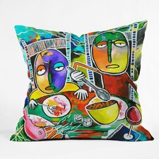 Robin Faye Gates I Should Give Relish a Try Indoor/Outdoor Throw Pillow