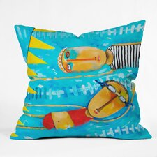 Robin Faye Gates Swimming Is Hard Indoor/Outdoor Throw Pillow