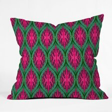 Wagner Campelo Ikat Leaves Indoor/Outdoor Throw Pillow
