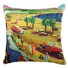 Summer Abroad Indoor/Outdoor Throw Pillow