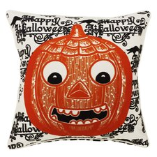 Halloween Words and Pumpkin Indoor/Outdoor Throw Pillow