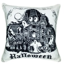 Halloween Haunted House Indoor/Outdoor Throw Pillow