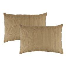 Dupione Bamboo Outdoor Sunbrella Lumbar Pillow (Set of 2)