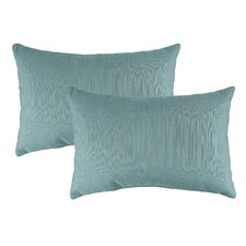 Dupione Outdoor Sunbrella Lumbar Pillow (Set of 2)