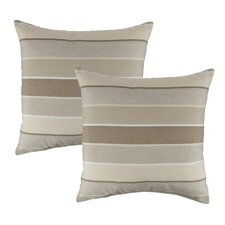 Modern Milano Flax Outdoor Sunbrella Throw Pillow (Set of 2)
