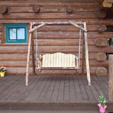Fresh Glacier Country Porch Swing with Stand