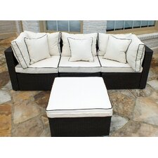 Hampton Wicker 4 Piece Sofa Set with Cushions