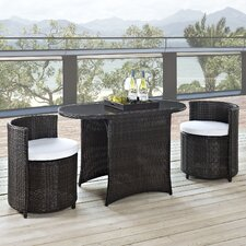 Katonti 3 Piece Dining Set with Cushions