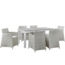 Cool Junction 7 Piece Outdoor Patio Dining Set with Cushion