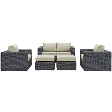 Summon 5 Piece Deep Seating Group with Cushion