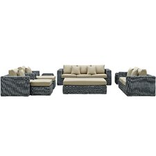 Summon 9 Piece Deep Seating Group with Cushion