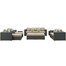 Sojourn 9 Piece Deep Seating Group with Cushion