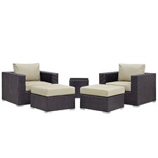 Convene 5 Piece Patio Sectional Set