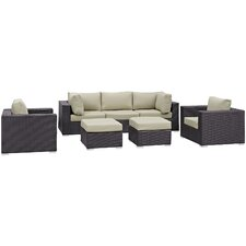 Convene 7 Piece Patio Sectional Set