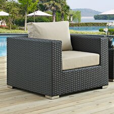 Sojourn Outdoor Patio Arm Chair with Cushions