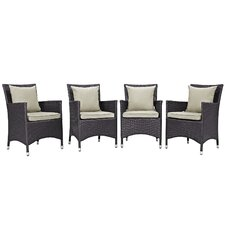 Savings Convene Deep Seating Chair with Cushion (Set of 4)