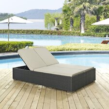 Sojourn Double Chaise Lounge with Cushion
