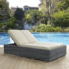Summon Double Chaise Lounge with Cushion