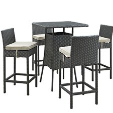 Sojourn 5 Piece Bar Set with Cushion