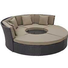 Convene Circular 5 Piece Deep Seating Group with Cushion