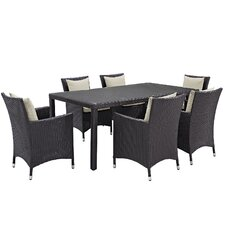Convene 7 Piece Outdoor Patio Dining Set with Cushions
