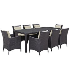 Convene 9 Piece Outdoor Patio Dining Set with Cushions